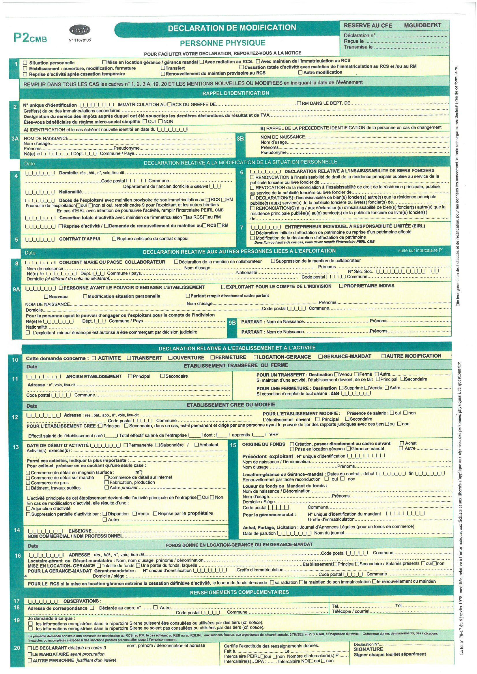 formulaire p4 cmb