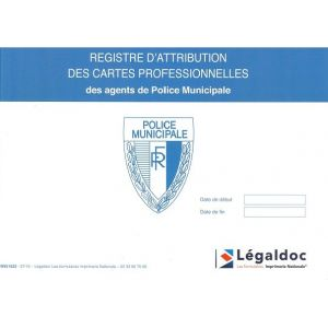 registre d 39 attribution des cartes de policiers municipaux legaldoc. Black Bedroom Furniture Sets. Home Design Ideas