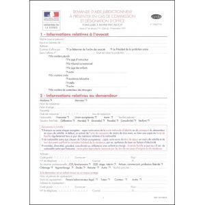 NOUVEAU-Demande d'aide juridictionnelle en cas de Commission et Désignation d'Office