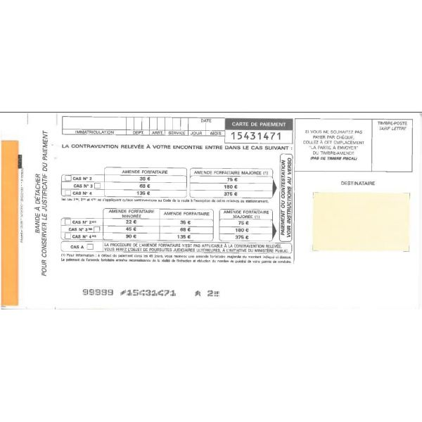 carnet de verbalisation orange personnalise legaldoc. Black Bedroom Furniture Sets. Home Design Ideas