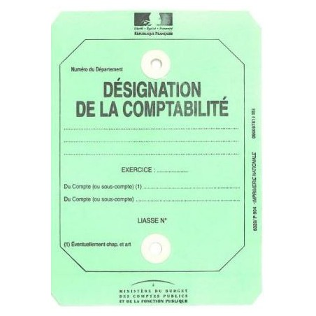 ETIQUETTE DESIGNATION DE LA COMPTABILITE P904