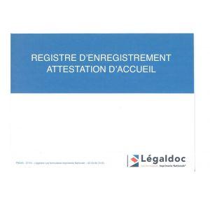 REGISTRE D'ENREGISTREMENT DES ATTESTATIONS D'ACCUEIL-NOUVEAU MODELE 2016