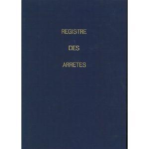 REGISTRE DES ARRETES