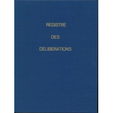 REGISTRE DES DELIBERATIONS