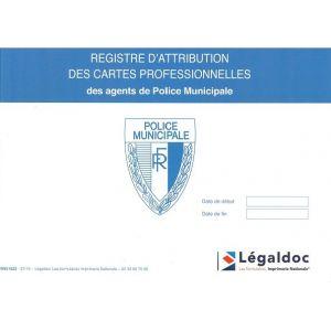 Registre d'attribution des cartes de policiers municipaux