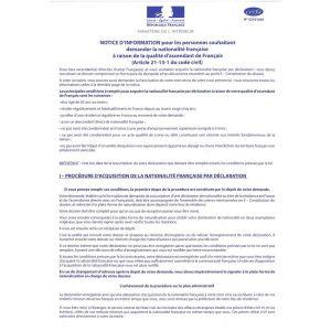 NOTICE D'INFORMATION-DECLARATION POUR LE CERFA 15561*01