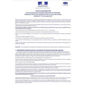 NOTICE D'INFORMATION-DECLARATION POUR LE CERFA 15562*01