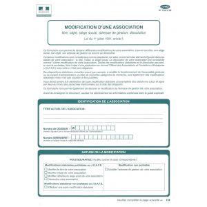Mofification D Une Association Legaldoc