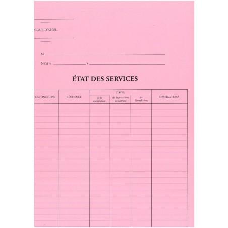 CHEMISE POUR ETAT DES SERVICES-CA2081