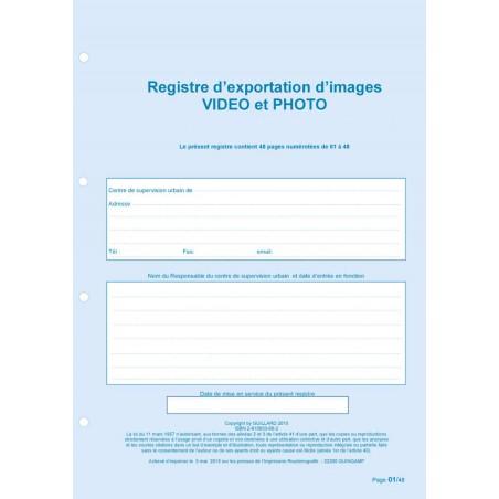 Registre d'exportation d'images Vidéo et Photo