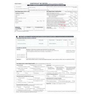Certificat de décès à partir du 28e jour