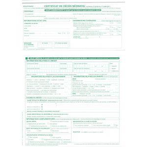 Certificat de décès néonatal