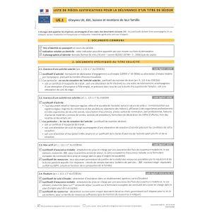 UE.1 - Citoyens UE, EEE, Suisse et membres de leur famille
