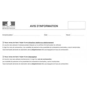 Carnet d'avis d'information personnalisé