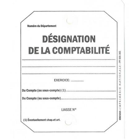 ETIQUETTE DESIGNATION DE LA COMPTABILITE