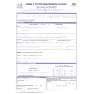 Demande De Certificat D Immatriculation D Un Vehicule Legaldoc