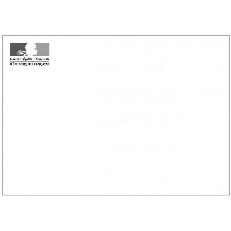 Enveloppe 114 x 162 mm FSC avec logo Marianne sans fenêtre