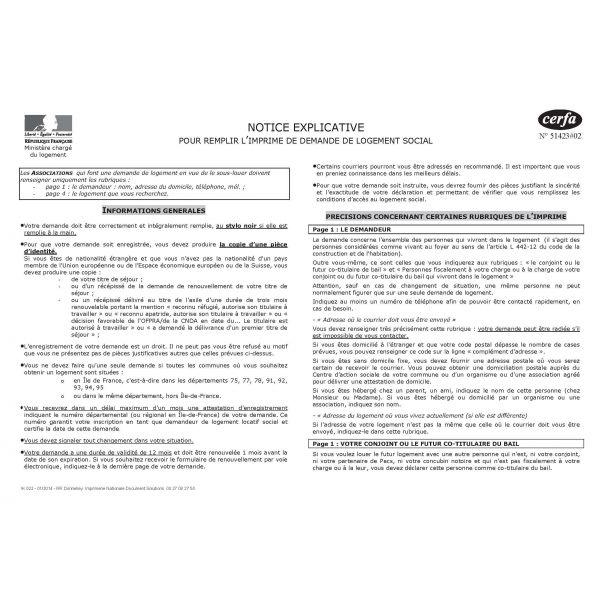 Notice Explicative Demande De Logement Social Legaldoc