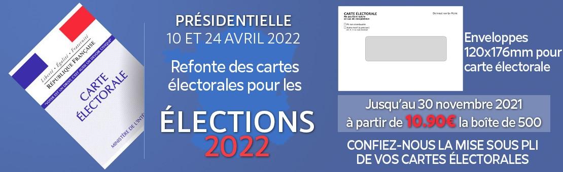 Promotions sur les enveloppes pour Cates électorales